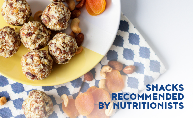SNACKS recommended by nutritionists